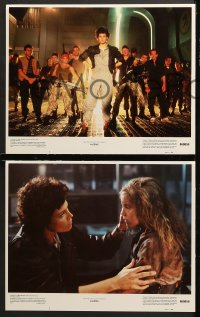 7c032 ALIENS 8 LCs 1986 Cameron, Sigourney Weaver as Ripley, great images!