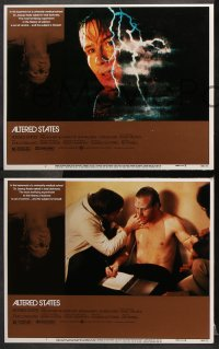 7c033 ALTERED STATES 8 LCs 1980 William Hurt, Paddy Chayefsky, Ken Russell, sci-fi horror!