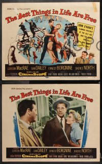 7c048 BEST THINGS IN LIFE ARE FREE 8 LCs 1956 Gordon MacRae, Dan Dailey, Sheree North!