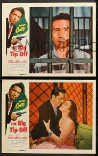 7c051 BIG TIP OFF 8 LCs 1955 Richard Conte knows everything the underworld does, film noir!