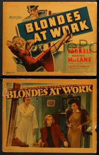7c054 BLONDES AT WORK 8 LCs 1938 Glenda Farrell as Torchy Blane, MacLane, rare complete set!