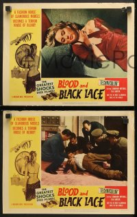 7c055 BLOOD & BLACK LACE 8 LCs 1965 Mario Bava, a fashion house becomes a house of blood!