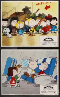 7c059 BON VOYAGE CHARLIE BROWN 8 LCs 1980 Charles M. Schulz, Snoopy & the Peanuts Gang!