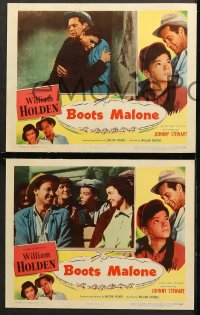 7c060 BOOTS MALONE 8 LCs 1951 William Holden, young horse jockey Johnny Stewart!