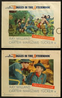 7c066 BUGLES IN THE AFTERNOON 8 LCs 1952 Ray Milland, Helena Carter, cavalry vs Native Americans!