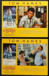 7c067 BURBS 8 LCs 1989 images of Tom Hanks, Bruce Dern, Carrie Fisher, in savage land, suburbia!