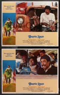 7c068 BUSTIN' LOOSE 8 int'l LCs 1981 border art of Richard Pryor running from the KKK by Reinman!