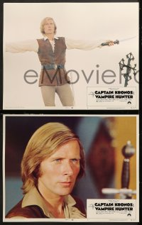 7c072 CAPTAIN KRONOS VAMPIRE HUNTER 8 LCs 1974 Hammer, only man alive feared by the walking dead!