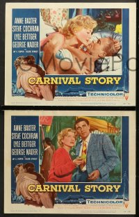 7c074 CARNIVAL STORY 8 LCs 1954 Anne Baxter & Cochran, we're both bad, baby, different #4 card!