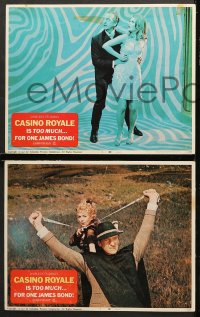 7c076 CASINO ROYALE 8 LCs 1967 Peter Sellers, Niven, Welles, Ursula Andress, James Bond spoof!