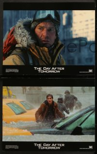 7c010 DAY AFTER TOMORROW 10 LCs 2004 Jake Gyllenhaal, Dennis Quaid, disaster scenes!