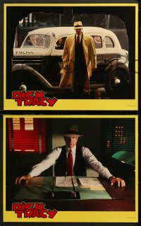 7c011 DICK TRACY 10 LCs 1990 great images of detective Warren Beatty, Madonna, Pacino, Forsythe!