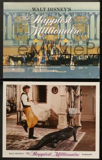 7c016 HAPPIEST MILLIONAIRE 9 LCs 1967 Disney, Fred MacMurray, Tommy Steele, Greer Garson & top cast!