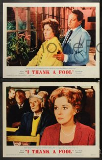 7c161 I THANK A FOOL 8 LCs 1962 Susan Hayward would kill for love, Peter Finch may be the fool!