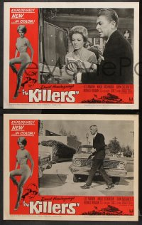 7c173 KILLERS 8 LCs 1964 Don Siegel, Hemingway, Lee Marvin, sexy Angie Dickinson, Ronald Reagan!
