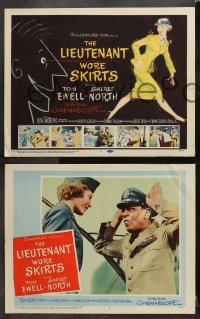 7c178 LIEUTENANT WORE SKIRTS 8 LCs 1956 sexy officer Sheree North in uniform, Tom Ewell, Rita Moreno