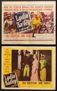 7c185 LYDIA BAILEY 8 LCs 1952 Dale Robertson & Anne Francis dance to the beat of voodoo drums!