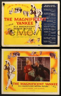 7c186 MAGNIFICENT YANKEE 8 LCs 1951 Louis Calhern as Oliver Wendell Holmes, directed by John Sturges