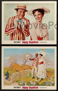 7c191 MARY POPPINS 8 LCs 1964 Disney musical classic, Dick Van Dyke, Julie Andrews!