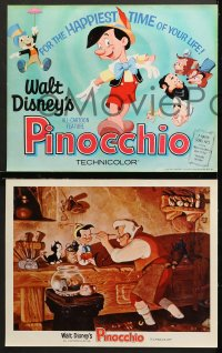 7c019 PINOCCHIO 9 LCs R1962 Disney classic fantasy cartoon about a wooden boy who wants to be real!