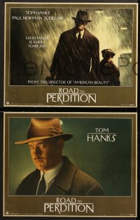 7c007 ROAD TO PERDITION 11 LCs 2002 directed by Sam Mendes, Tom Hanks, Paul Newman, Jude Law!