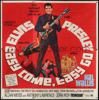 7d021 EASY COME, EASY GO 6sh 1967 different image of scuba diver Elvis Presley & playing guitar!