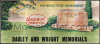 7d011 DAULEY & WRIGHT MEMORIALS billboard 1940s rainbow over grave, for names to be remembered!