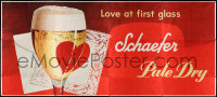 7d015 SCHAEFER BEER billboard 1950s cool art of another great beer, love at first glass!