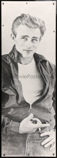 7d100 JAMES DEAN b/w style 26x74 commercial poster 1980s smoking pose from Rebel Without a Cause!