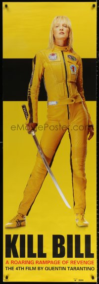 7d102 KILL BILL: VOL. 1 21x62 English commercial poster 2003 Tarantino, Uma Thurman w/ katana!