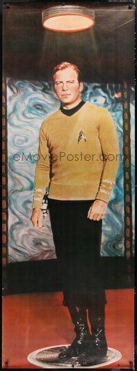 7d107 STAR TREK 26x72 commercial poster 1976 full-length James T. Kirk on transporter pad!