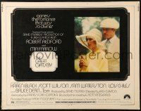 7d036 GREAT GATSBY 1/2sh 1974 Robert Redford, Mia Farrow, from F. Scott Fitzgerald novel!
