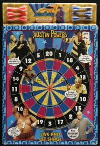 7d033 AUSTIN POWERS: INT'L MAN OF MYSTERY magnetic dart game 1997 Mike Myers, live and let shag!