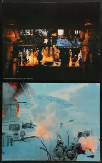 7d062 EMPIRE STRIKES BACK 2 color 16x20 stills 1980 Luke Skywalker, Darth Vader, more!