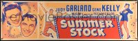 7d076 SUMMER STOCK paper banner 1950 great artwork of Judy Garland & Gene Kelly, up-close & dancing!