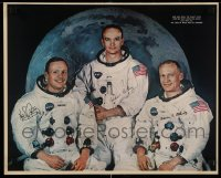7d050 APOLLO 11 16x20 special 1969 Michael Collins, Neil Armstrong & Buzz Aldrin, NASA moon landing!