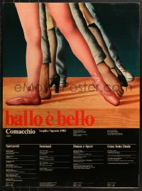 7d051 BALLO E BELLO 27x37 Italian special poster 1983 great art of a dance course lineup!