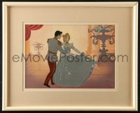 7d054 CINDERELLA art print 1990s Walt Disney classic fantasy cartoon, Music at the Ball!