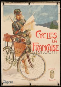 7d088 CYCLES LA FRANCAISE 17x24 French advertising poster 1900s artwork by Vincent Lorant Heilbronn!