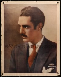 7d006 JOHN GILBERT personality poster 1920s great semi-profile portrait of the MGM leading man!