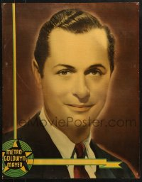 7d007 ROBERT MONTGOMERY personality poster 1930s portrait of the MGM leading man in black suit!