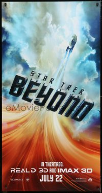 7d087 STAR TREK BEYOND DS 26x50 special poster 2016 image of the Starship Enterprise in flight!