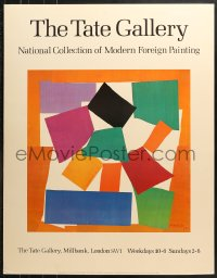7d045 TATE 28x36 English museum/art exhibition 1982 The Snail by Henri Matisse, colorful!