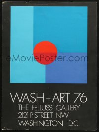 7d046 WASH-ART 76 15x20 museum/art exhibition 1976 colorful completely different geometric artwork!