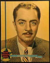 7d009 WILLIAM POWELL personality poster 1936 head & shoulders portrait of the MGM leading man!