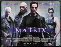 7d188 MATRIX subway poster 1999 Keanu Reeves, Carrie-Anne Moss, Laurence Fishburne, Wachowskis!