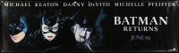 7d111 BATMAN RETURNS vinyl banner 1992 great images of Batman, Catwoman & Penguin!