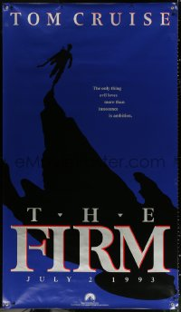 7d112 FIRM vinyl banner 1993 Tom Cruise, directed by Sydney Pollack, power can be murder to resist!