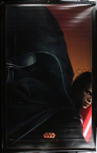 7d116 REVENGE OF THE SITH vinyl banner 2005 Star Wars Episode III, Hayden Christensen as Vader!