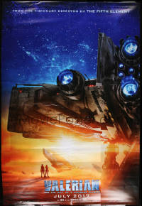 7d118 VALERIAN & THE CITY OF A THOUSAND PLANETS vinyl banner 2017 Luc Besson, image of ship!